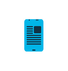 Article on phone icon colored symbol premium vector