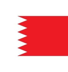 Bahrain flag image vector image