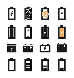 Battery an icon vector image