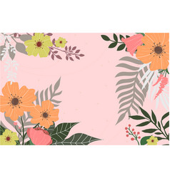 bloom floral background vector image