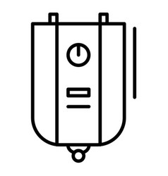 boiler icon outline style vector image