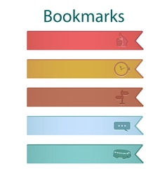 Bookmark icons river vector