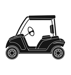 Car for golfgolf club single icon in black style vector