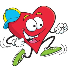 Cartoon Running Heart vector image