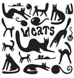 cats doodles vector image