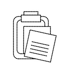 clipboard with note paper memo pin office vector image