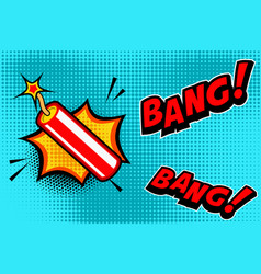comic book style background with dynamite stick vector image