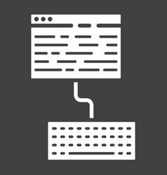 copywriting glyph icon seo and development vector image