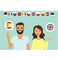 Couple speaking different languges vector image