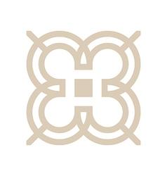 design number 3 arrow brown icon symbol vector image