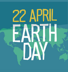 Earth day poster design in flat style 22 april vector