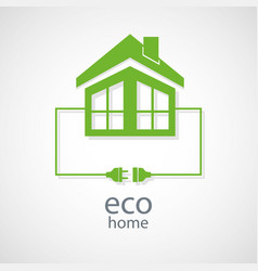 eco home concept vector image