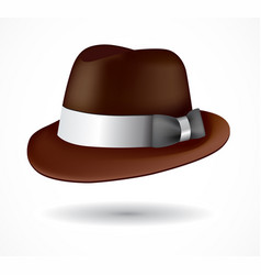 fedora hat fedora hat english cap vector image
