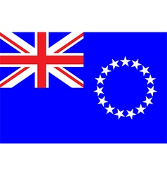 Flag of cook island vector image