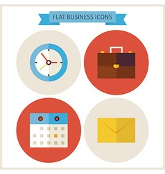 Flat Business Website Icons Set vector
