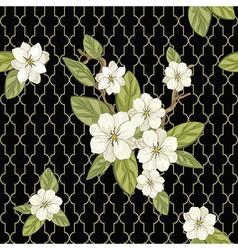 flower on black vector image