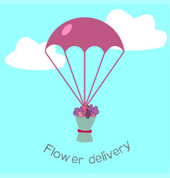 Flowers delivery flat stile concepte vector