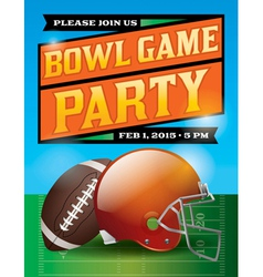 Football Bowl Game Party Flyer vector image