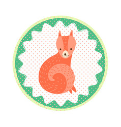 fox badge vector image