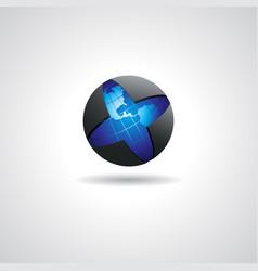 Globe logo concept vector