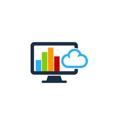 graph computer logo icon design vector image