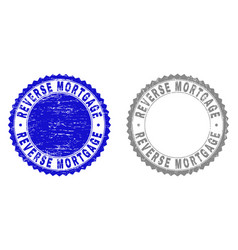 Grunge reverse mortgage scratched stamp seals vector