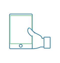 hand with smartphone vector image