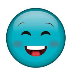 happy face emoticon kawaii character vector image