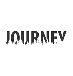 journey text or labels with silhouette of forest vector image