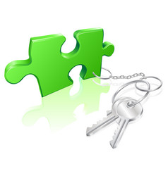 key to the problem concept vector image