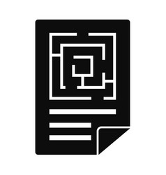 labyrinth solution icon simple style vector image