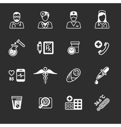 Line medical icons vector image