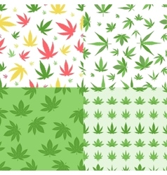 Marijuana seamless pattern vector image