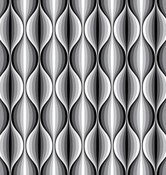 monochrome geometric wavy lined seamless pattern vector image