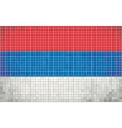 Mosaic Flag of Serbia vector image