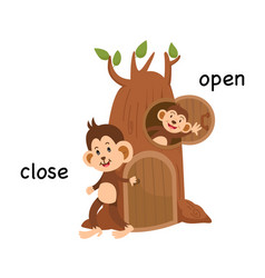 Opposite close and open vector