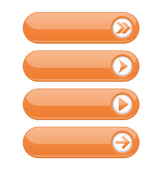 orange interface buttons with arrows vector image
