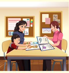 parents teacher meeting vector image