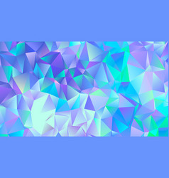 pastel blue crystal low poly backdrop design vector image