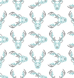 Pattern background with the deer Seamless vector image