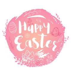 pink easter background vector image