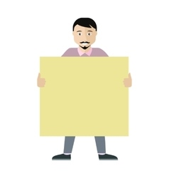 Poster Template with Empty Paper Sheet Flat vector image