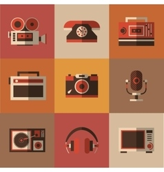 Radio photo phone microphone in one picture vector image