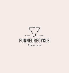 recycle funneling logo icon vector image