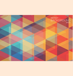 Retro color geometric triangle wallpaper vector