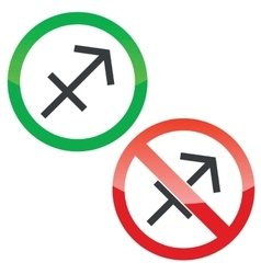 Sagittarius permission signs set vector
