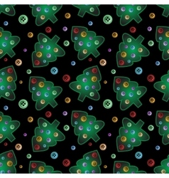 Seamless pattern from lighning sewed pines with vector image
