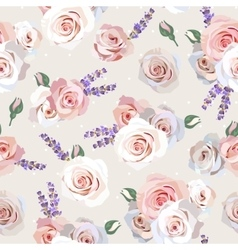 Seamless roses and lavender vector