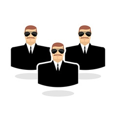 Security man Icon guard Bodyguards Man in vector image