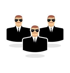 Security man Icon guard Bodyguards Man in vector